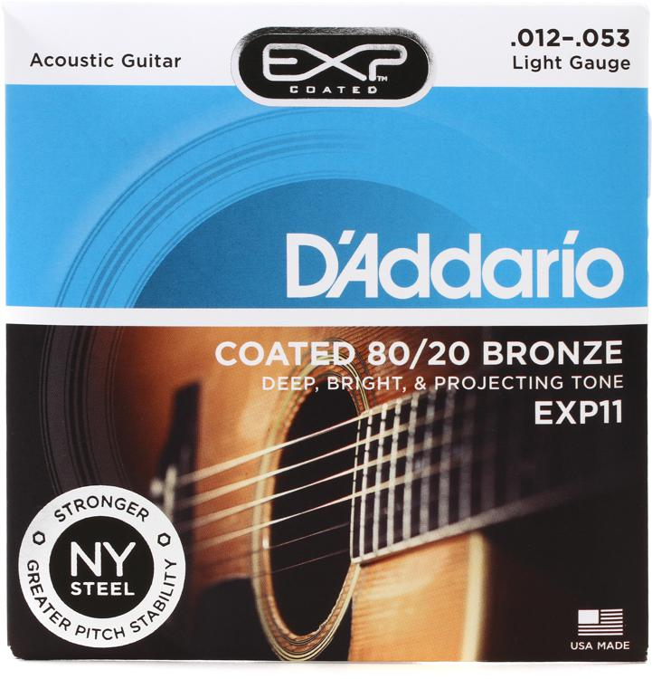 D\'Addario EXP11 Coated 80/20 Bronze Light Acoustic Strings image 1