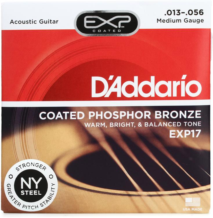 D\'Addario EXP17 Coated Phosphor Bronze Medium Acoustic Strings image 1