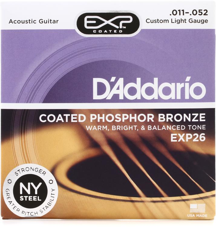 D\'Addario EXP26 Coated Phosphor Bronze Custom Light Acoustic Strings image 1