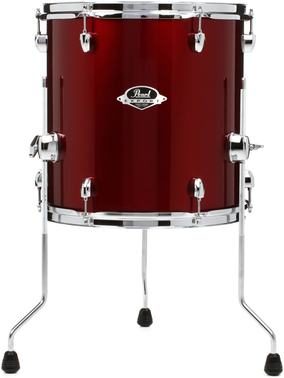 pearl export exx floor tom 14 x14 wine red sweetwater. Black Bedroom Furniture Sets. Home Design Ideas