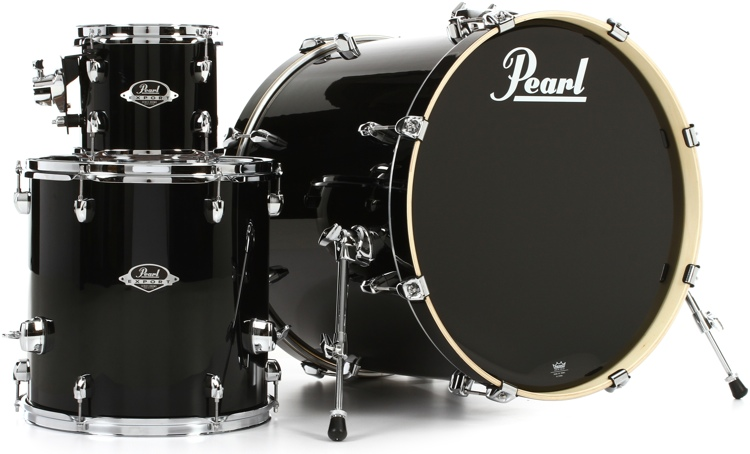 Pearl Export EXX 3-piece Add-on Kit with Hardware - Jet Black image 1