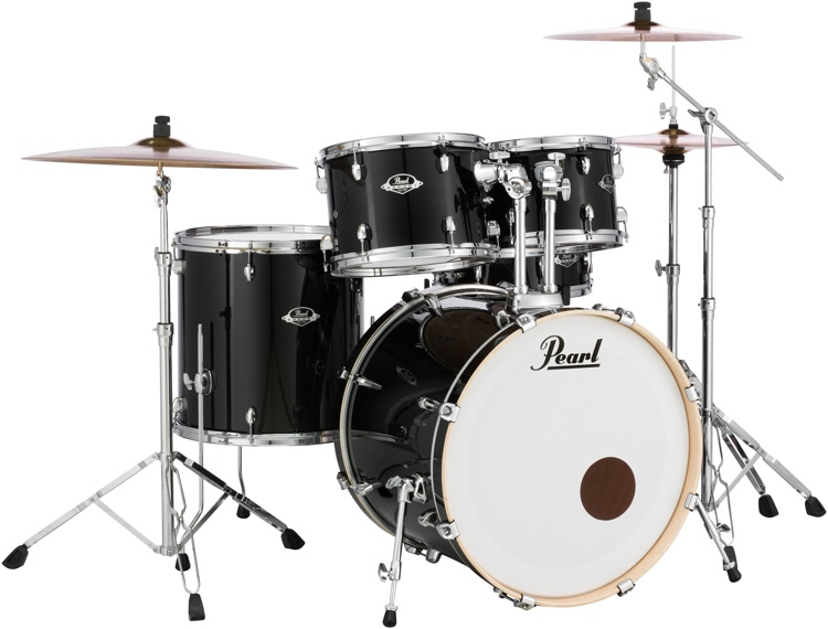 Pearl Export EXX 5-Piece Drum Set With Hardware - Standard Configuration - Jet Black image 1