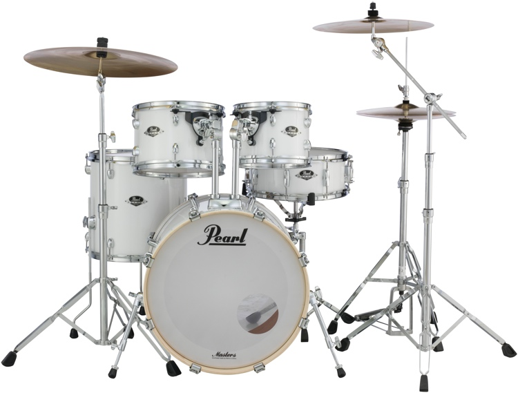 Pearl Export EXX 5-Piece Drum Set With Hardware - Standard Configuration - Pure White image 1