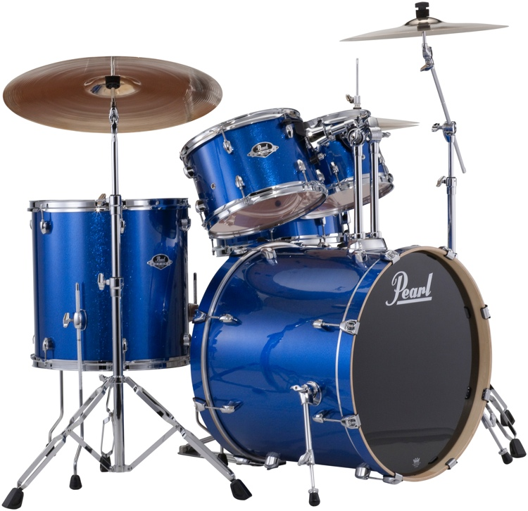 Pearl Export EXX 5-piece Drum Set with Hardware Fusion Configuration- Electric Blue Sparkle image 1