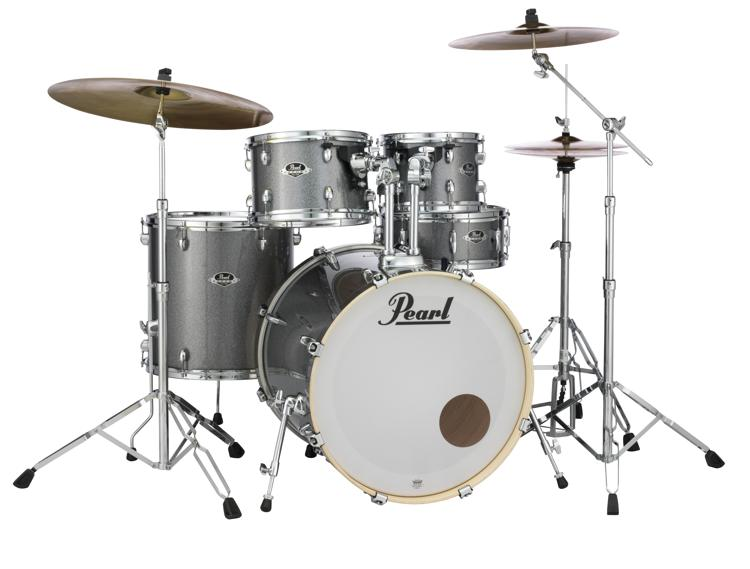 Pearl Export EXX 5-piece Drum Set with Hardware - Fusion Configuration- Grindstone Sparkle image 1
