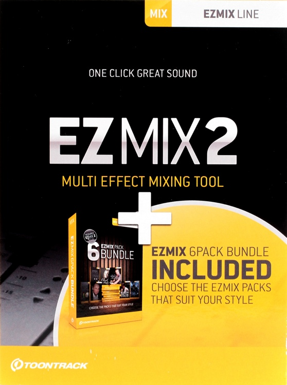Toontrack EZmix 2 Plus 6 Mix Pack Plug-in Bundle image 1