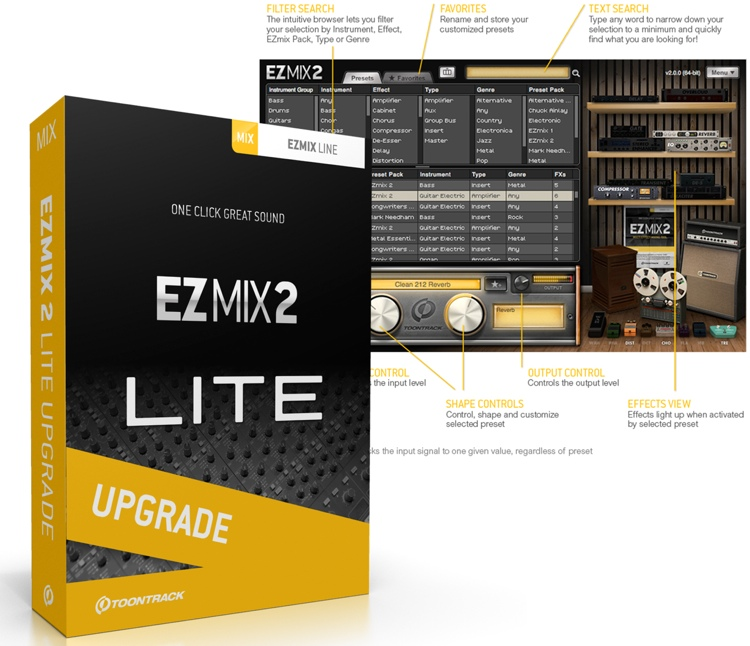 Toontrack EZmix 2 Upgrade from EZmix Lite image 1