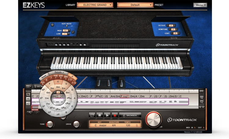 Toontrack EZkeys Electric Grand Songwriting Software and Virtual Electric Grand image 1