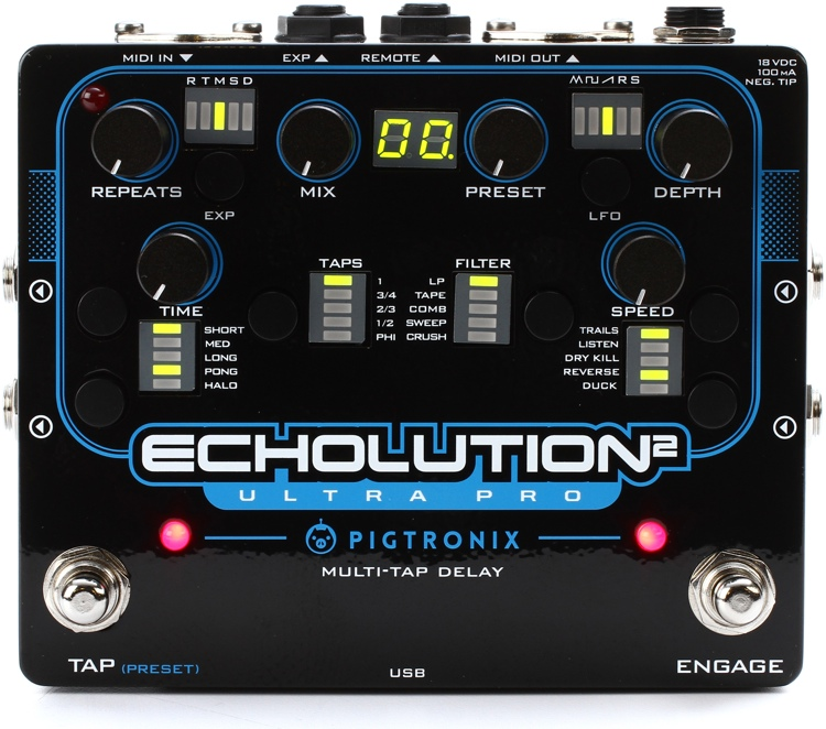 Pigtronix Echolution 2 Ultra Pro Delay Pedal image 1