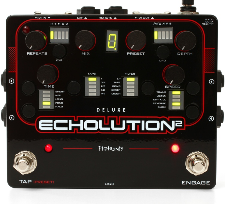 Pigtronix Echolution 2 Deluxe Delay Pedal image 1