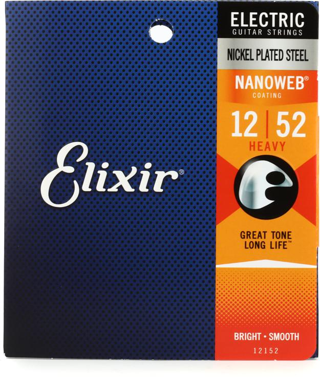 Elixir Strings 12152 Nanoweb Heavy Electric Guitar Strings image 1