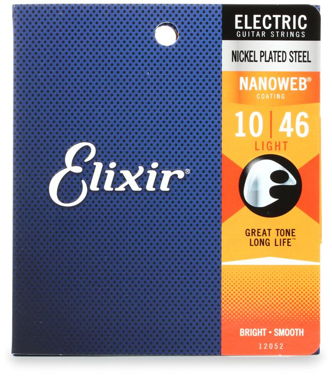 Elixir Strings 12052 Nanoweb Light Electric Guitar Strings image 1
