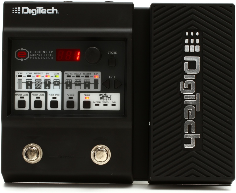 digitech element xp multi fx pedal with expression pedal sweetwater. Black Bedroom Furniture Sets. Home Design Ideas