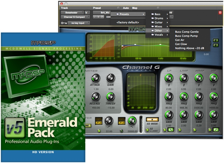 McDSP Emerald Pack HD v5 Upgrade from Any 4 HD Plug-ins image 1