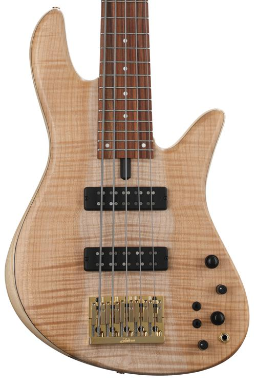 Fodera Emperor Standard - Flame Maple Top, Natural image 1