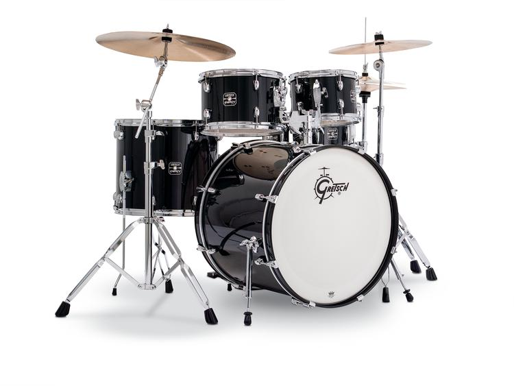 Gretsch Drums Energy 5-Piece Kit with Cymbals & Hardware - Black image 1