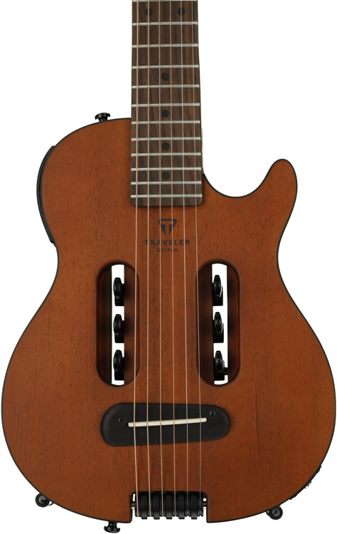 Traveler Guitar Escape Mark III Mahogany - Acoustic-electric Travel Guitar - Natural image 1