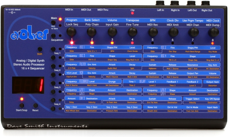 Dave Smith Instruments Evolver Analog/Wavetable Synthesizer with Step Sequencer image 1