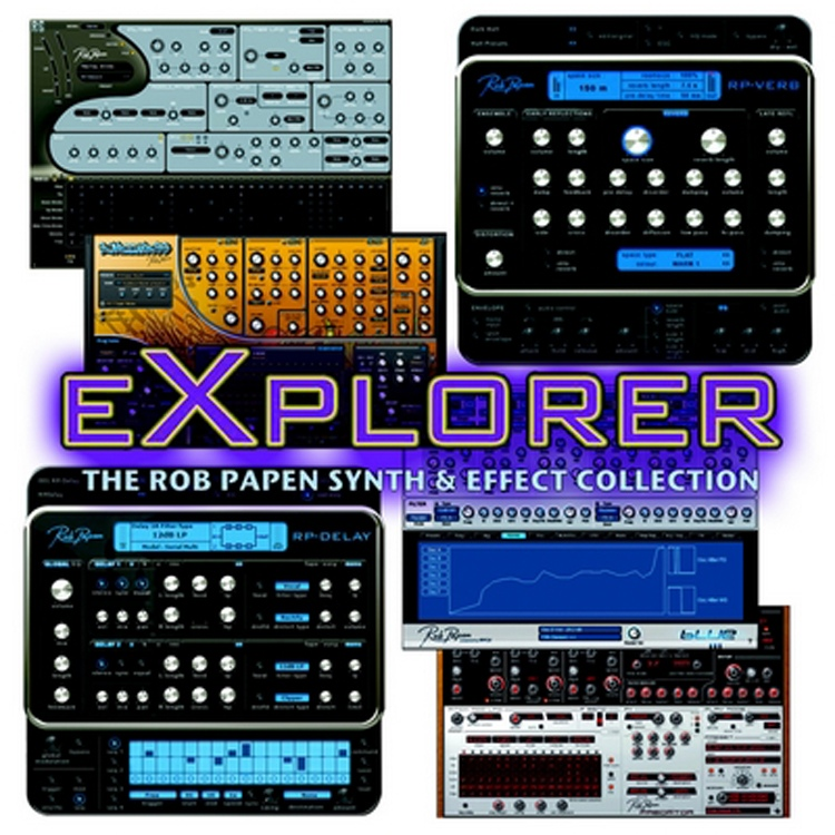 Rob Papen eXplorer 2 Virtual Instrument and Effects Software Bundle Upgrade from any Rob Papen Title image 1