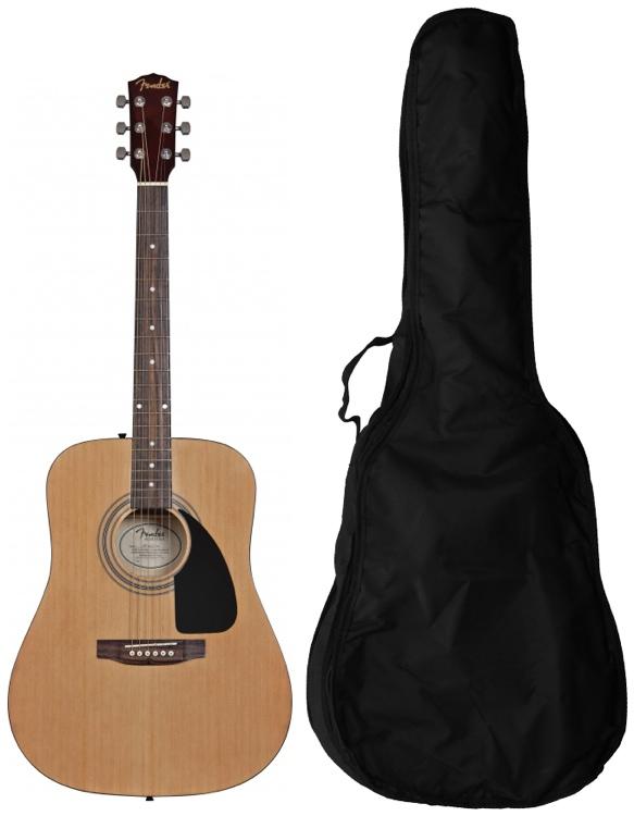 Fender FA100 Acoustic w/Gig Bag - Natural image 1
