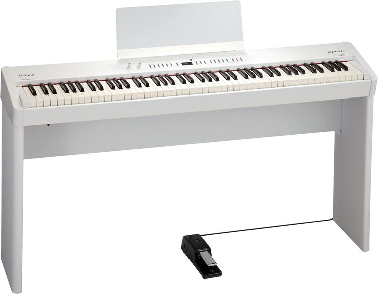 Roland FP-4F with Stand - White image 1