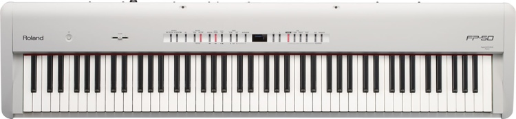 Roland FP-50 Digital Piano - White image 1