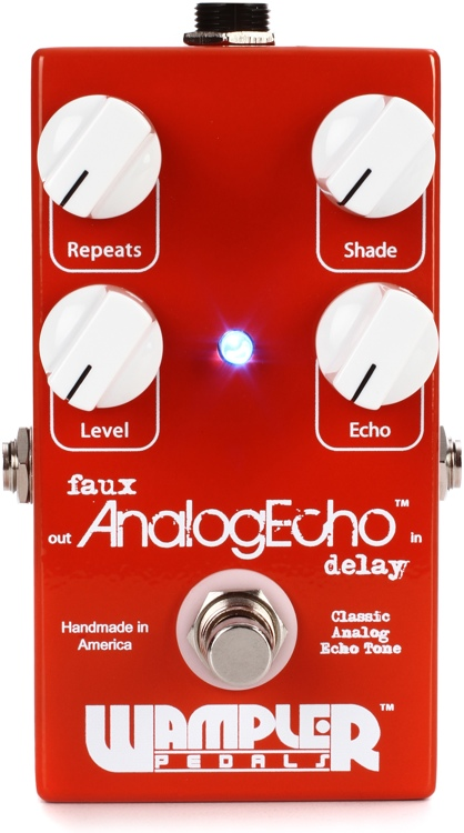 Wampler Faux Analog Echo Delay Pedal image 1