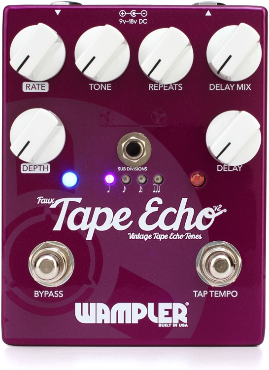 Wampler Faux Tape Echo V2 Delay Pedal image 1