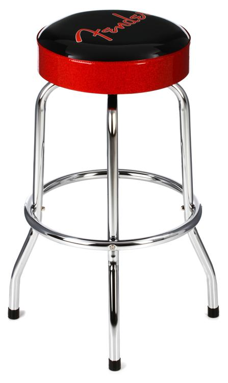 Fender Accessories Logo Barstool - Red and Black 30