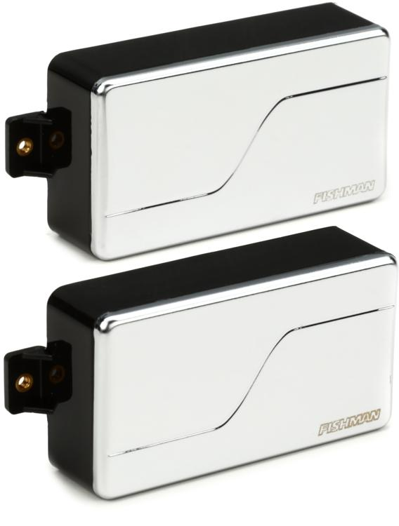 Fishman Fluence Modern Humbucker Pickup Set with Nickel Cover image 1