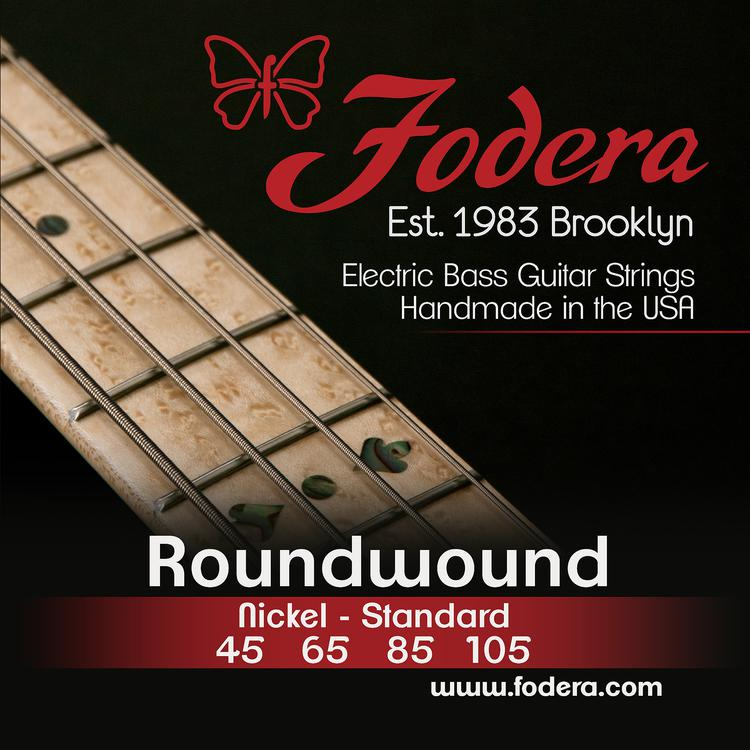 Fodera 45105 Nickel Roundwound Bass Strings - 0.045-0.105 Medium image 1