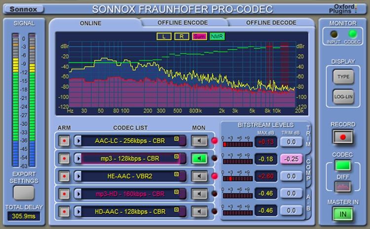 Sonnox Fraunhofer Pro-Codec Plug-in - Academic Version image 1