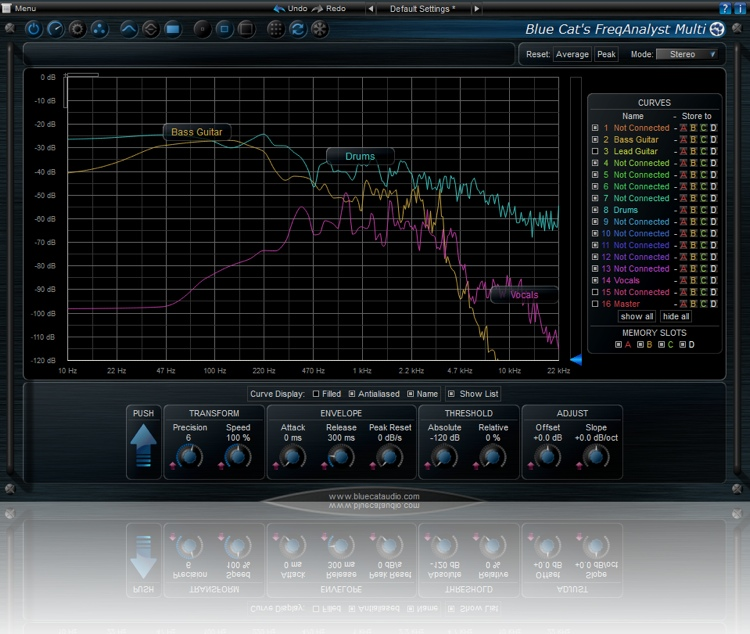Blue Cat Audio FreqAnalyst Multi Realtime Spectrum Analyzer Plug-in image 1