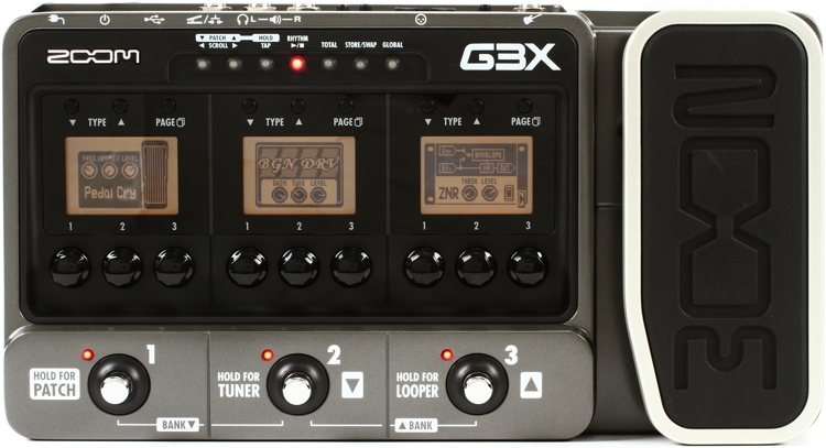 Zoom G3X Multi Effects Pedal with USB and Expression Pedal image 1