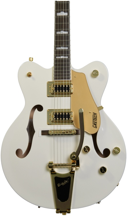 Gretsch G5422TDC Electromatic Double Cutaway Hollowbody - Snow Crest White image 1