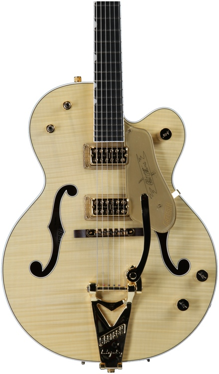 Gretsch G6120 Chet Atkins Hollow Body - Amber Flame Maple image 1