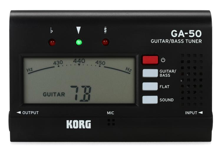 korg ga50 guitar and bass tuner sweetwater. Black Bedroom Furniture Sets. Home Design Ideas