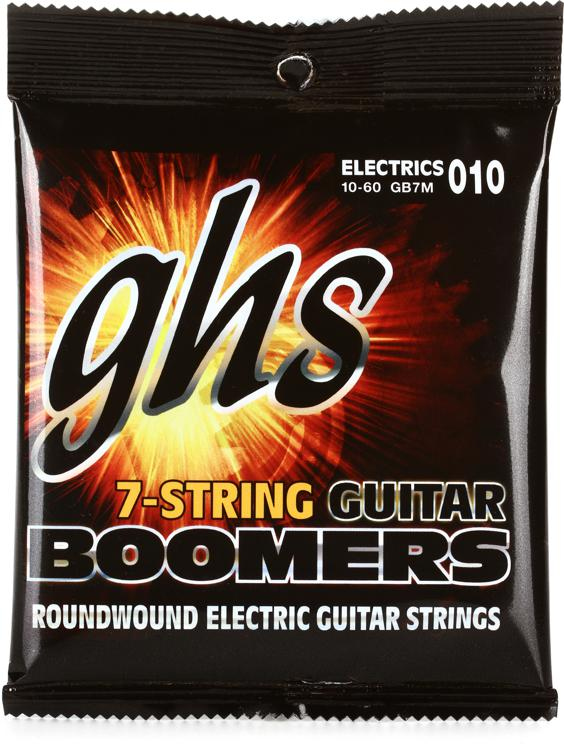 GHS GB7M Guitar Boomers Roundwound Medium 7-String Electric Guitar Strings image 1