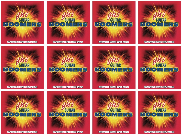 GHS GBL Guitar Boomers Roundwound Light Electric Guitar Strings 12-Pack image 1