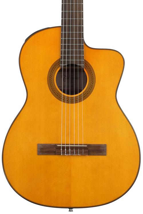 Takamine GC1CE-NAT Classical Guitar with Electronics w// Stand and Tuner