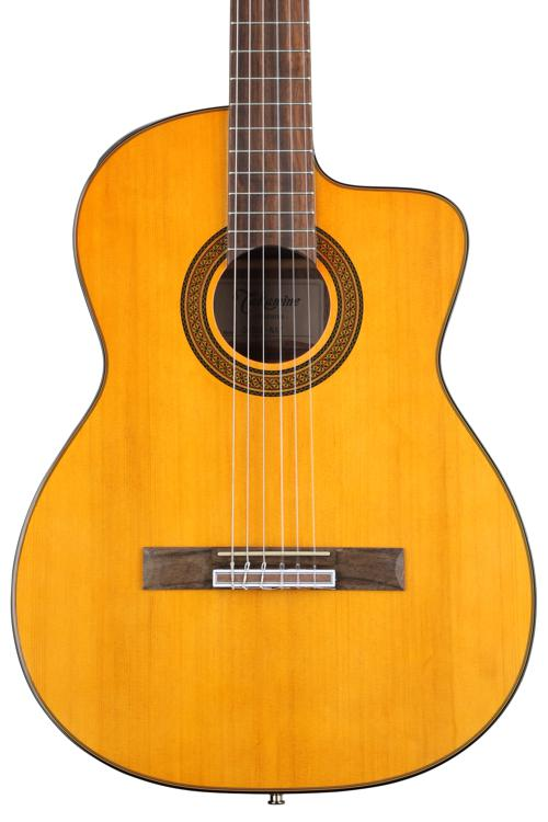 Takamine GC5CE Acoustic-Electric Classical Cutaway Guitar, Natural image 1