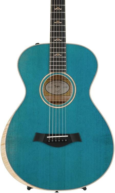 Taylor Grand Concert 12-fret Custom AA Quilt Maple - Koi Blue image 1