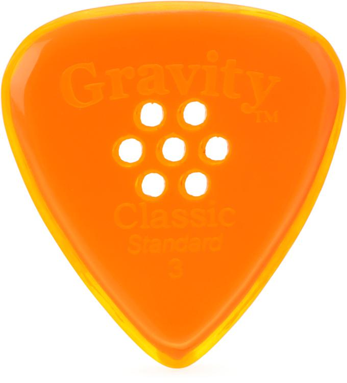 Gravity Picks Classic - Standard Size, 3mm, w/Multi-hole Grip image 1