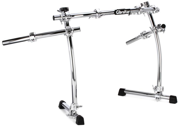 Gibraltar GCS-400C Road Series Chrome Drum Rack With Side Wings - Curved image 1