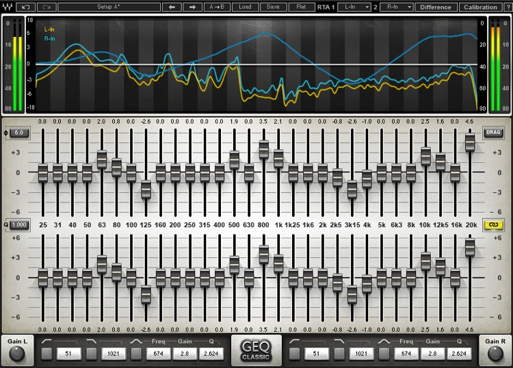 Waves GEQ Graphic Equalizer Plug-in image 1