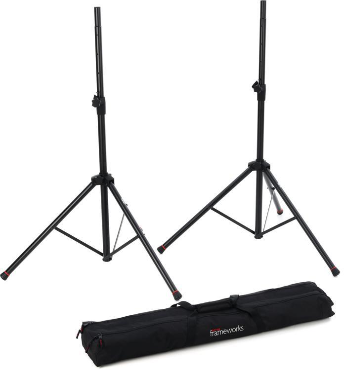 Gator Frameworks GFW-SPK-2000SET Standard Aluminum Speaker Stands (set of 2) with Carry Bag image 1