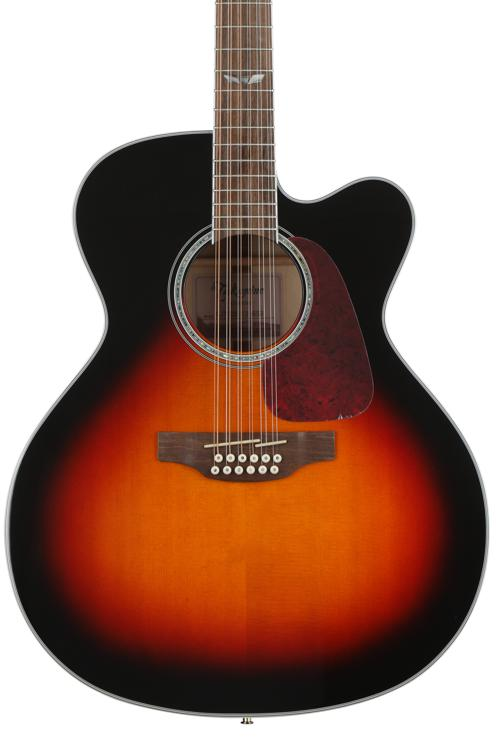 Takamine GJ72CE-12 - Brown Sunburst image 1