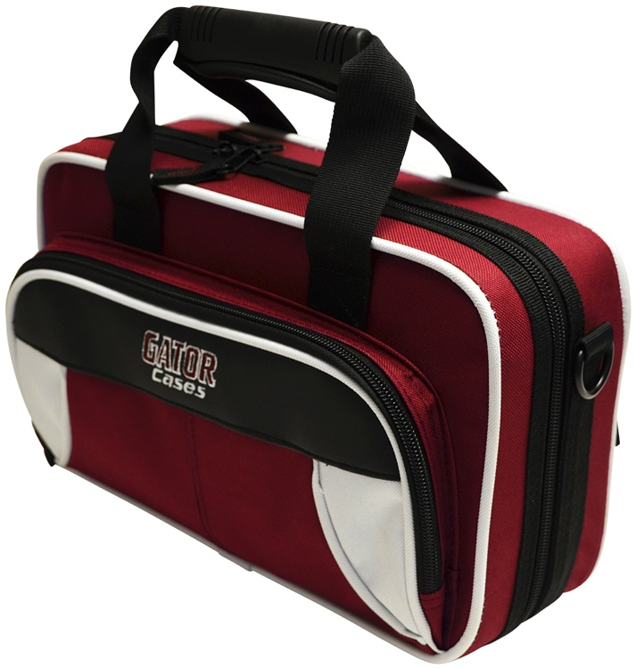 Gator GL-CLARINET-WM - Lightweight Clarinet Case, White & Maroon image 1