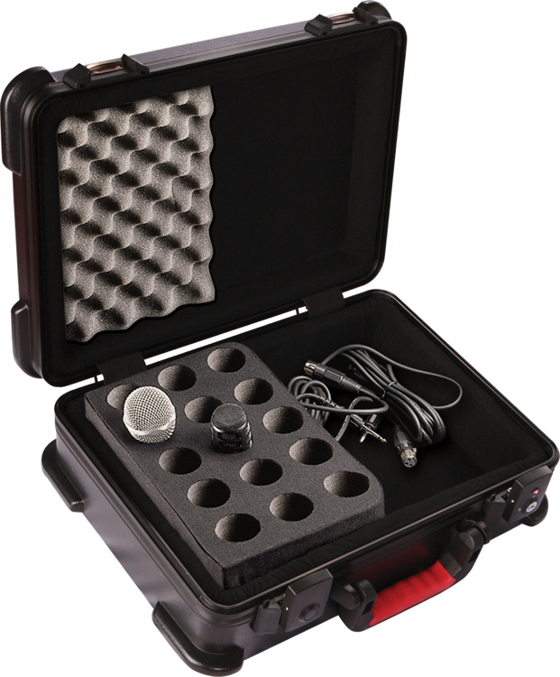 Gator GM-15-TSA - ATA Molded Case w/ Drops for 15 Mics; TSA Latches image 1