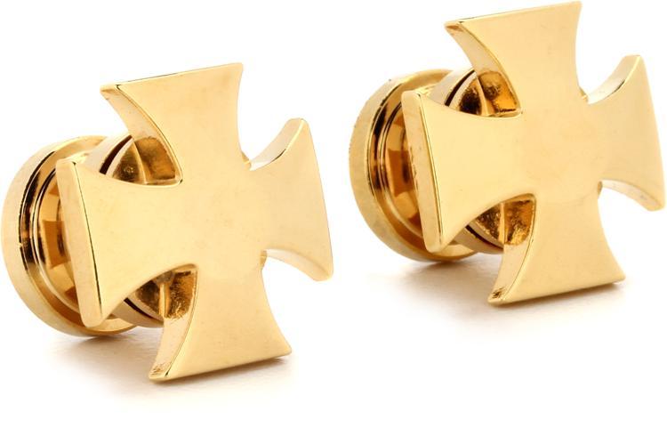 Grover GP640G Strap Button Set - Iron Cross - Gold image 1
